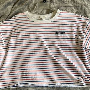 Crop shirt (red,white and blue) never wore!